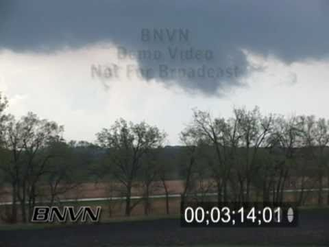 5/8/2005 Severe Storm and Hail Stock Video