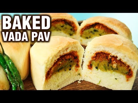 Baked Vada Pav Recipe - How To Make Baked Batata Vada Pav At Home - Healthy Snack Recipe - Neha