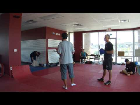 Nicolas Saignac Teaching Savate Kicks vs Punches Drill Image 1