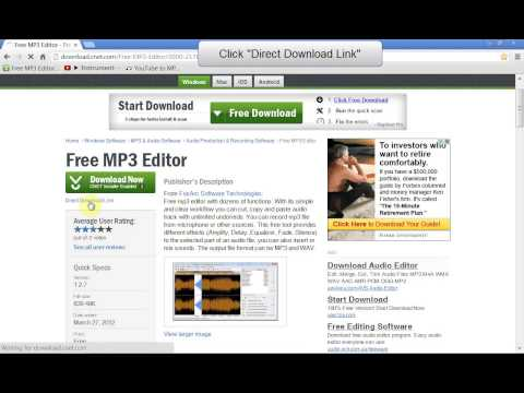 Download & Install Free MP3 Music Editing Software
