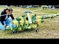 STUNNING GIGANTIC Mil Mi-8 AMT RC TURBINE SCALE MODEL RUSSIAN HELICOPTER FLIGHT DEMONSTRATION