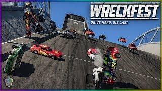 Rock Bottom Race Chaos! | Wreckfest | NASCAR-ish?
