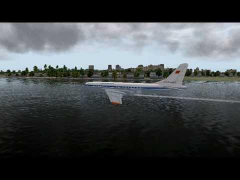 [X-Plane] Реконструкция посадки Ту-124 (б/н 45021) на Неву в 1963 году