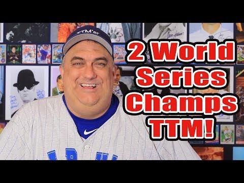 Word Series Winners/MVP TTM autographs!