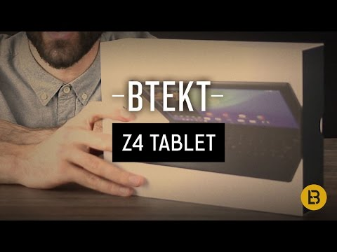 Sony Xperia Z4 Tablet + BKB50 unboxing video