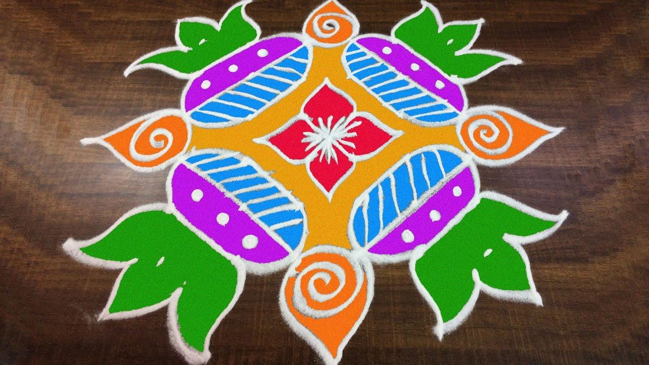 Easy rangoli designs for Bhogi pics