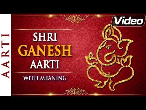 Ganesh Aarti - Jai Ganesh Jai Ganesh Deva with Lyrics   HD Video Songs