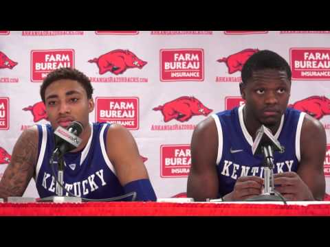 Kentucky Wildcats TV: Arkansas Post Game Presser w/ Julius Randle & James Young