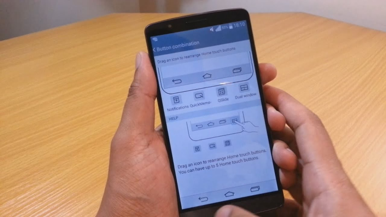 Custom Home Touch Button Features on LG G3 Android ...