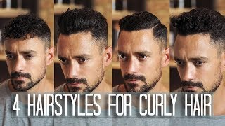 4 Men's Hairstyles For Curly Or Wavy Hair | How To Style Your Hair