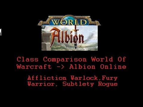 Albion Online - Class Comparison Between Albion Online / World of Warcraft!
