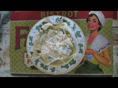 Равиоли с рикоттой и шпинатом. Видео-рецепт. Ravioli Ricotta Spinaci