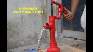 Hand Water Pump - How to make Water Hand Pump at Home