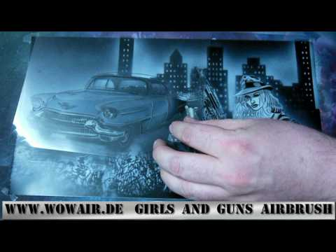 No 017  Airbrush By Wow  Girls And Guns  Hd 1080.mp4 video