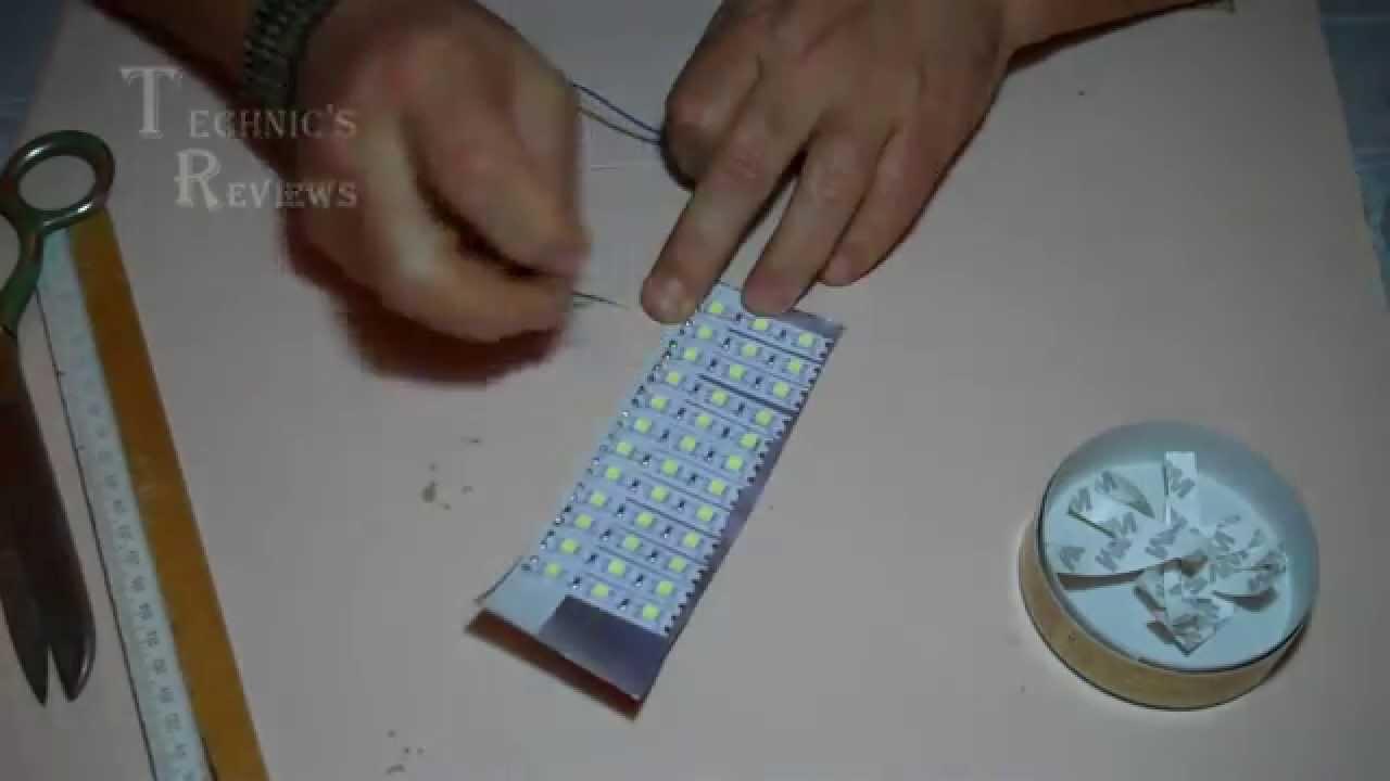 Как сделать светильник из светодиодной ленты своими руками 61