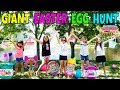GIANT SURPRISE EASTER EGG HUNT With Our Friends LOL Confetti Pop Pikmi Pops Hatchimals Squishies mp3