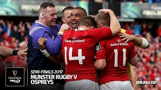 Semi-Final Highlights: Munster Rugby v Ospreys Rugby   2016/17 season