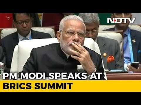 PM Modi's Statement At The 2017 BRICS Summit Plenary Session