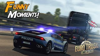 Euro Truck Simulator 2 Multiplayer Funny Moments & Crash Compilation #87