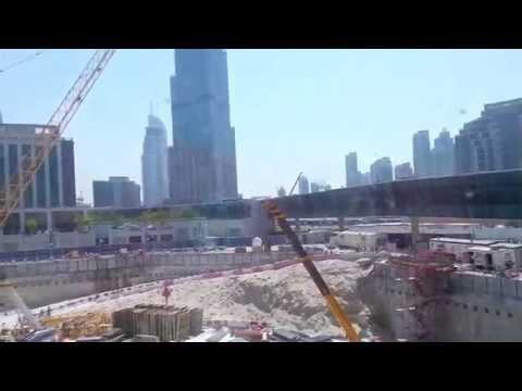 New Skyscraper being build in front of Burj Khalifa in Dubai