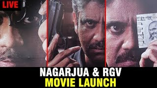 Akkineni Nagarjuna and RGV Movie Opening | Nagarjuna New movie | Filmylooks