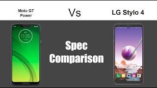 Moto G7 Power vs LG Stylo 4 - Spec Comparison