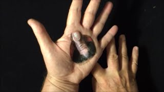 Drawing a Finger in the Holle Illusion, Trick Art
