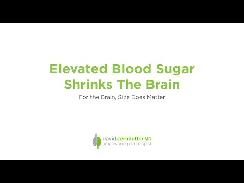 Elevated Blood Glucose Shrinks the Brain