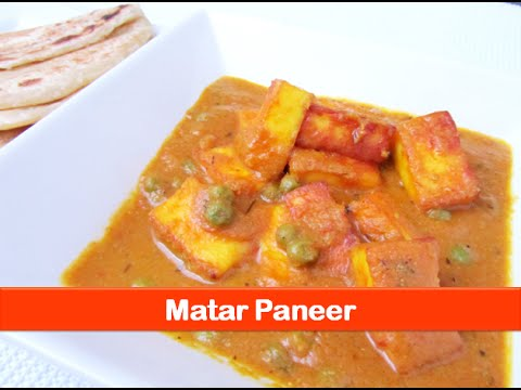 Matar paneer/mutter paneer (cottage cheese with peas)