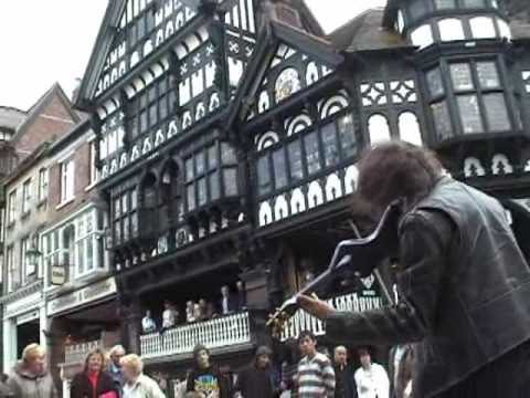 Awesome Electric Violin - Ed Busking Chester Video