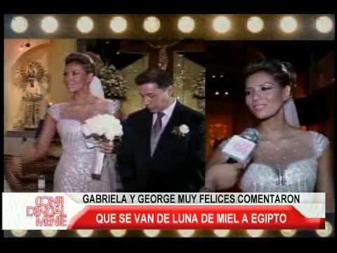 GABRIELA ROCA SE CASÓ CON GEORGE LOZA