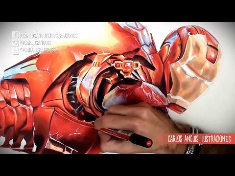 Drawing Iron man Age of Ultron (Dibujando a Iron man)