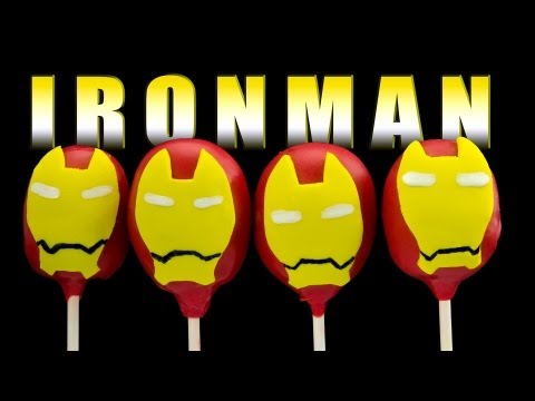 Iron Man Cake Pops - How to Make by Cookies Cupcakes and Cardio