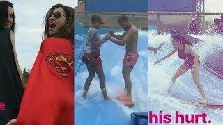Marina Squerciati with Patrick Flueger   Instagram Story Videos   August 20 2017