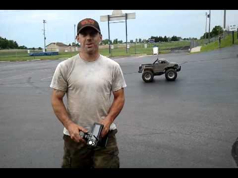 rc 1/4 scale silverado parking lot test run