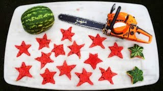 EXPERIMENT WATERMELON STARS MADE WITH CHAINSAW