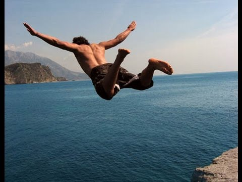 Top 15 Most Extreme Cliff Jumps - Cliff Jumping / Diving Music Videos