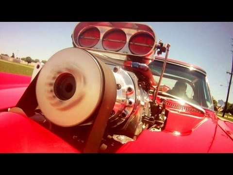 Driving Supercharged 454 Big-Block 1966 Corvette Pro Street Fast Lane Classic Cars
