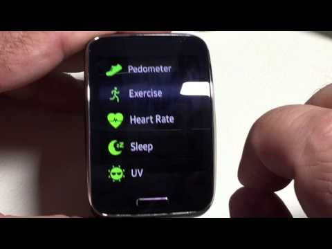 Samsung Gear S:  Reviewing Health App Sleep and Exercise Feature