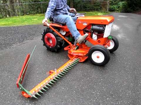 Simplicity 725 Tractor with Sickle Bar Mower - YouTube