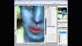How to make Avatar face on Photoshop (Navi face)