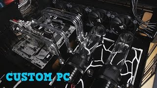 Project Severed Blue - Custom Water cooled Core WP100 PC Case Mod - Liquid Tube Bending Part 3