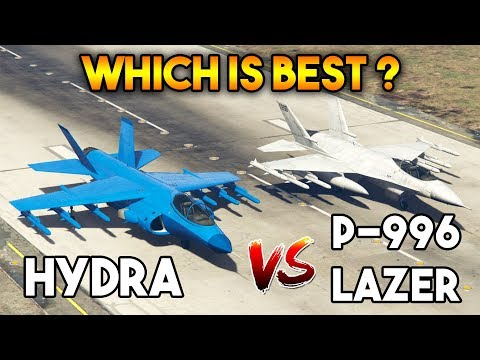 GTA 5 ONLINE : LAZER VS HYDRA ( WHICH IS THE BEST AIRCRAFT ? )