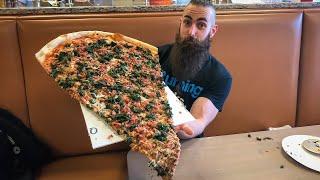 THE BIGGEST PIZZA CHALLENGE I'VE EVER SEEN 2.0 | BeardMeatsFood