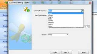 Sitemap creator module in Search Engine Wizard SEO Software