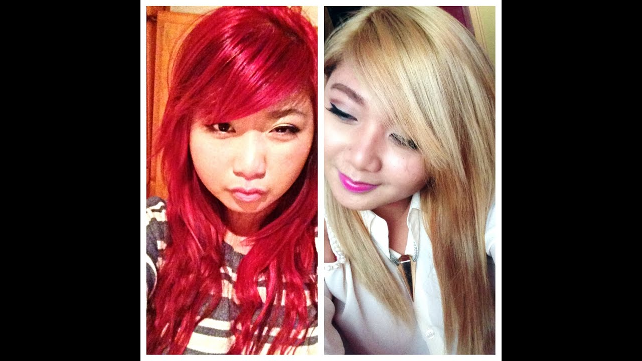 How To Red To Blonde Youtube