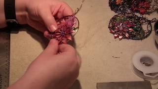 Watch me Wire Wrap a Steampunk Pendant!