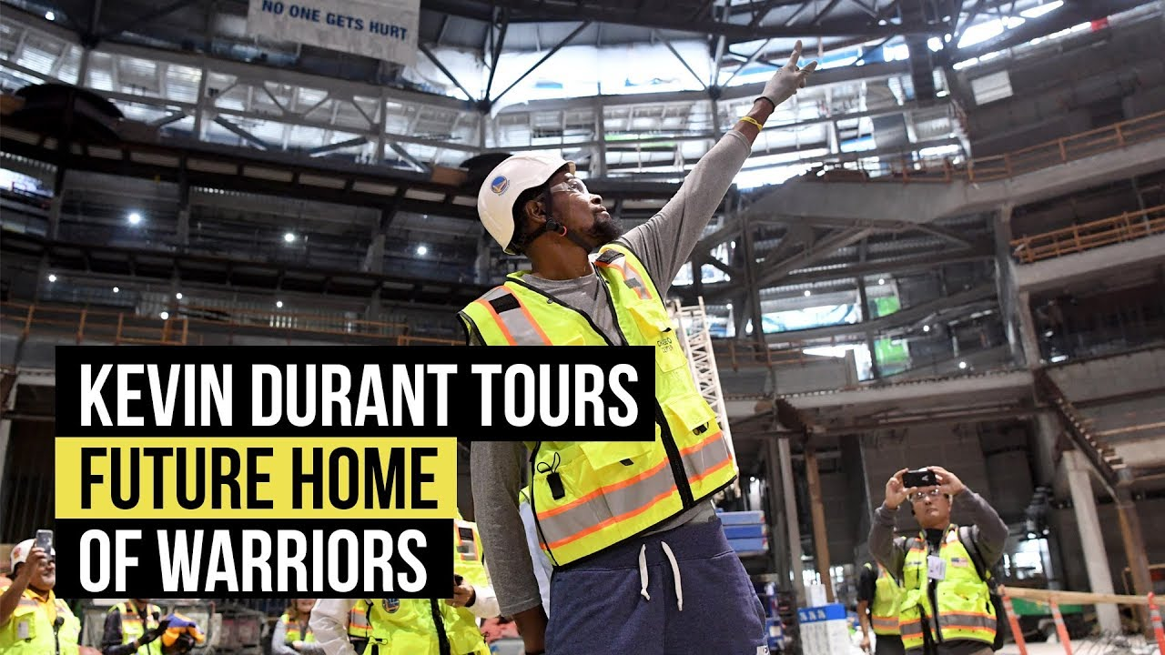 Kevin Durant tours future home of the Warriors