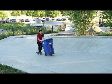 Woody Woelfel slow mo at Ann Arbor skatepark