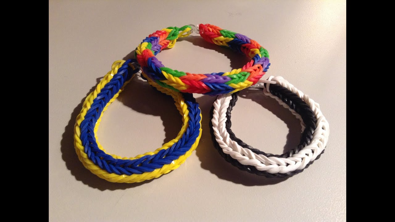 New Rainbow Loom Double Cross Fishtail Bracelet Round 4